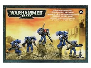 Immagine di Games Workshop Warhammer 48-09 SQUADRA DI SPACE MARINE ASSALTATORI Personaggi Modellino