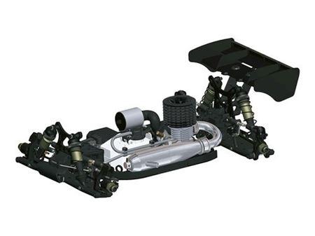 Immagine di Hot Bodies D819 1/8 Competition Nitro Buggy 204450 incluso Motore Novarossi S21P5XLT