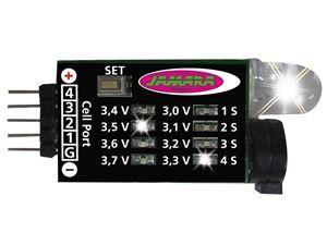 Immagine di Monitor di voltaggio Lipo  Audio-LED 2-4 celle