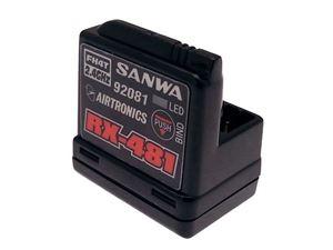 Immagine di Sanwa - RX-481 2.4GHz FH3 / FH4T Ricevitore 4 canali con antenna incorporata 107A41251A