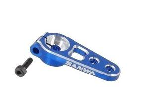 Immagine di SANWA-Squadretta Aluminio Servocomando blu  2 Fori (25T) 107A54262A  blu