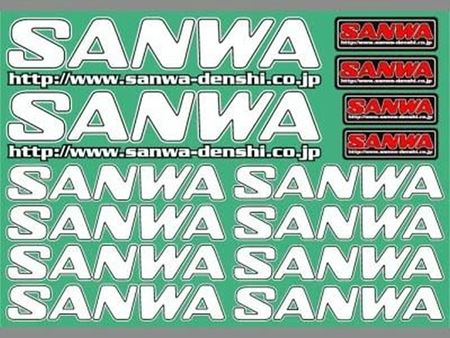 Immagine di SANWA - Decal Sheet - 235x165mm - WHITE 107A90532A