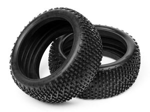 Immagine di HB RACING - Coppia gomme KHAOS TIRE BLUE/1/8TH BUGGY (Solo Gomme )  67770