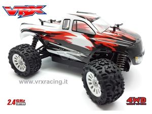 Immagine di VRX Monster truck MT-BL scala 1/18 motore elettrico brushless kv-4200 radio 2.4GHz RTR 4WD VRX RH1812