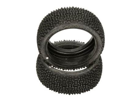 Immagine di HB RACING - Coppia gomme MEGAGRID TIRE 2pcs/White/ 1/8 Buggy (Solo Gomme )  67945