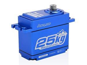 Immagine di Power HD-Servocomando HD LW-25MG WATERPROOF BLUE ALU CASE (25.0KG.0.141SEC)