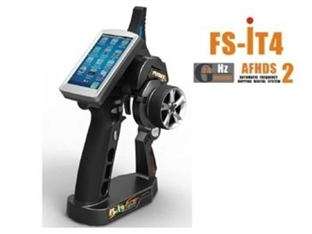Immagine di Radiocomando FlySky TX IT4S 4CH COLOR TOUCH SCREEN Con  Batteria  Lipo Inclusa