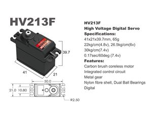 Immagine di Batan - Servocomando HV213F-30 kg / 0,17 sec  High Voltage digitale