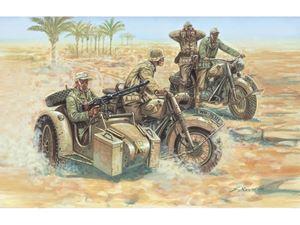 Immagine di Italeri GERMAN MOTORCYCLES (Kit di Montaggio) -6121 - Scala 1 : 72