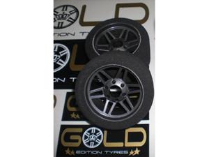 Immagine di Coppia GOMME  J-Tech 1:8 ON ROAD Anteriori SH32 Gold