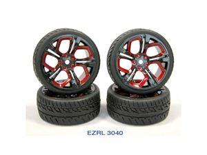 Immagine di EZ Power-SET GOMME SCOLPITE 1:10 26mm + CERCHI DEVIL(4)