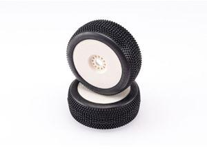 Immagine di HOTRACE TIRES - Coppia di Gomme BANGKOK (SuperSoft) Incollate su Cerchio Bianco