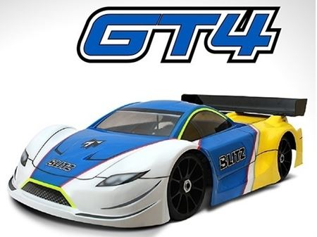 Immagine di BLITZ 1/8 GT4 GBS Carrozzeria Body with Wing (0,8mm) Rally GT 60807-08