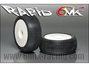 Immagine di 6MIK - Coppia gomme 1:8 Buggy RAPID CS° SSoft incollate su cerchio Bianco (2)