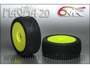 Immagine di 6MIK - Coppia gomme 1:8 Buggy MAGMA 2.0 -0/18° Soft incollate su cerchio  (2)