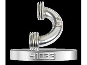 Immagine di Novarossi 41033 Kit Collettore Lucido 2Anelli Curvo Ø16/13mm. Più corto di 3mm rispetto al 41021