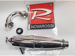 Immagine di Novarossi Kit Marmitta lucida Con Collettore Lucido per Modelli 1/8