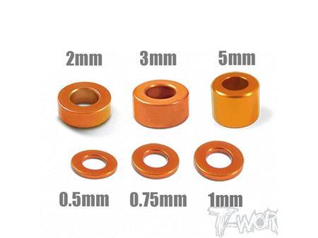 Immagine di T-WORK'S RONDELLE ORANGE 3mm 05/075/1/2/3/5mm 24pz TA012O