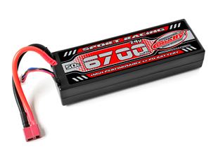 Immagine di Batteria Lipo 2s Team Corally PowerRacing 50C 6700Mah 7,4V TPlug HC