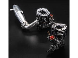 Immagine di Motore OS Speed T1204 W/TT01- 1/10 2,1cc Con Scarico TR01 efra 2672 e collettore MT03