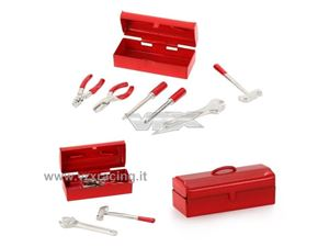 Immagine di Mini scatola con attrezzi in metallo accessori per modelli Rock Crawler