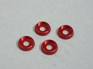 Immagine di ARM Rondelle M3 in Alluminio (4) Gun Rosso